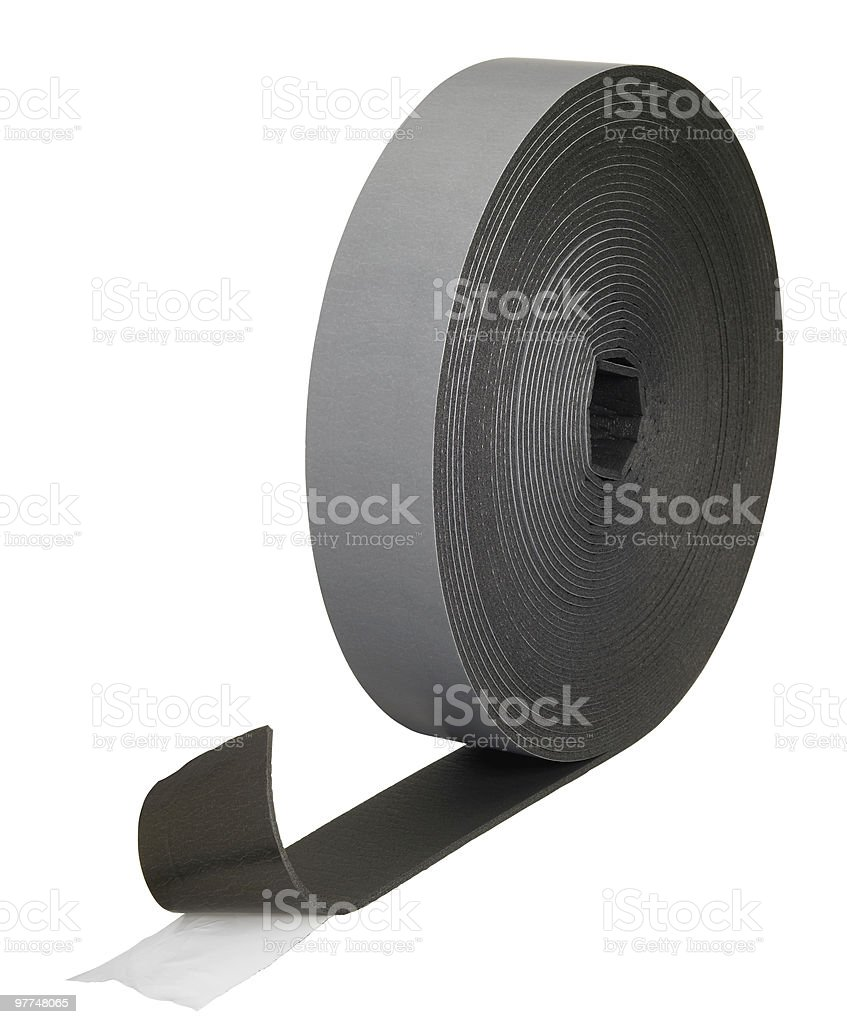 adhesive rubber roll stock photo