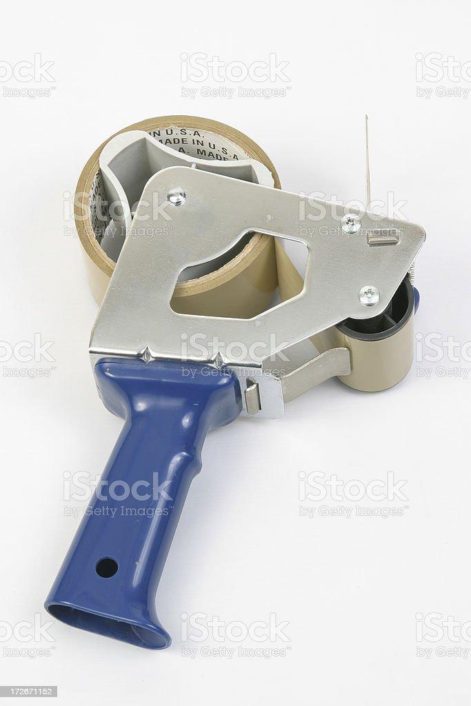 Adhesive Tape Gun 1 royalty-free stock photo