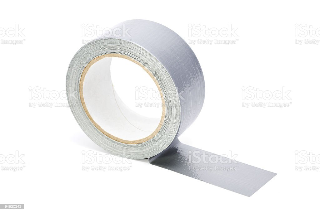 adhesive tape isolated on white royalty-free stock photo