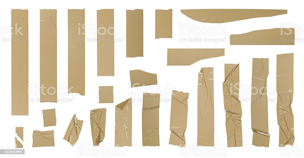 Adhesive tape set stock photo
