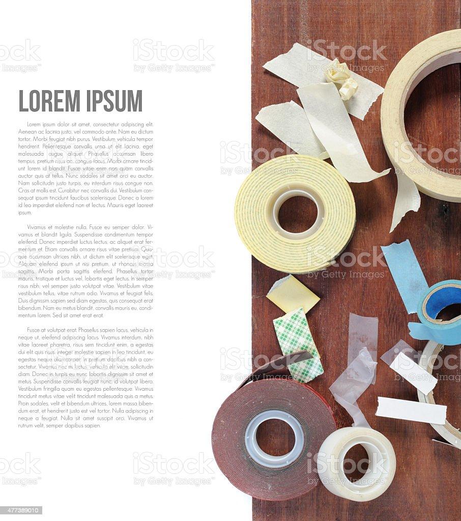 Adhesive tapes stock photo