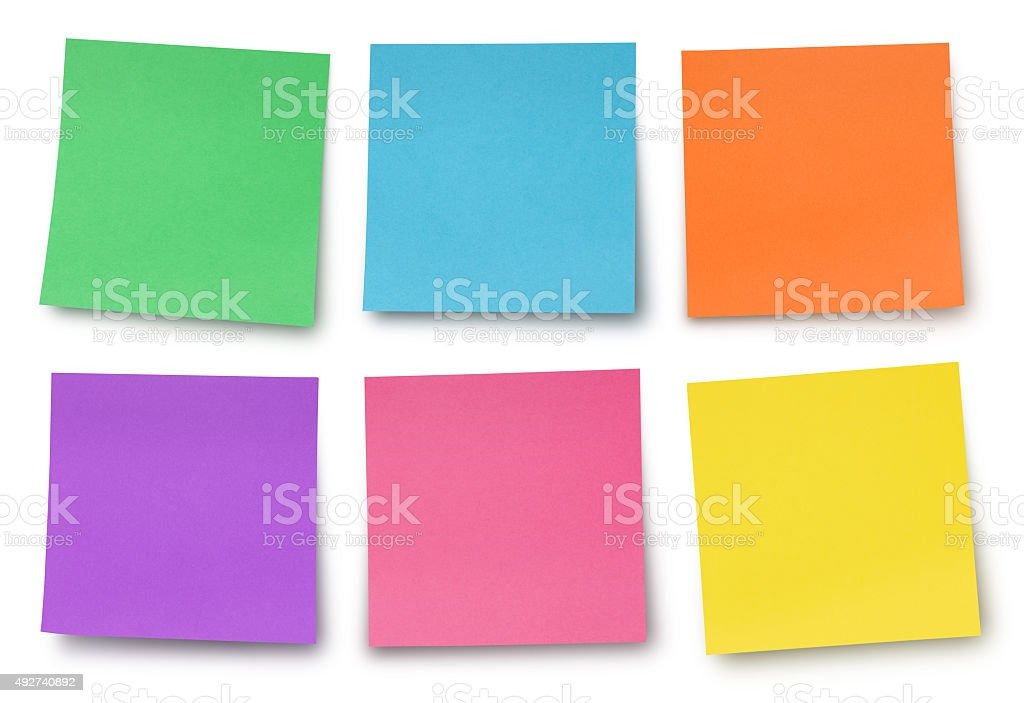 Adhesives Notes (with path) stock photo