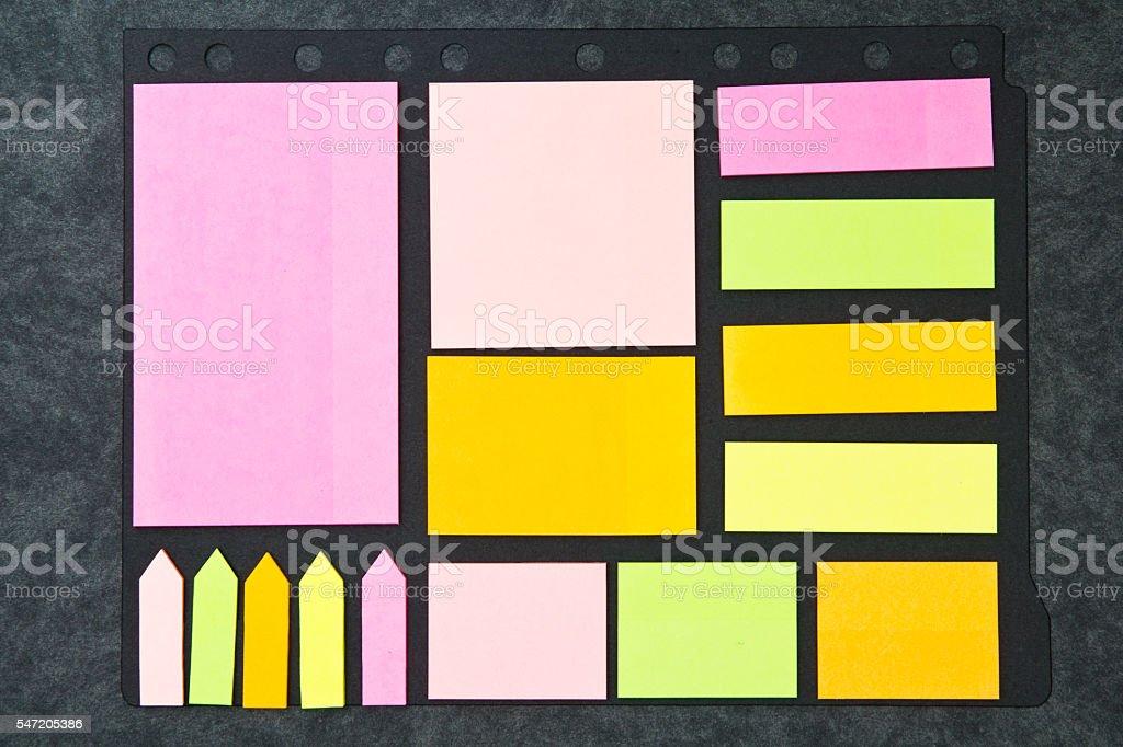 Adhesives Notes stock photo