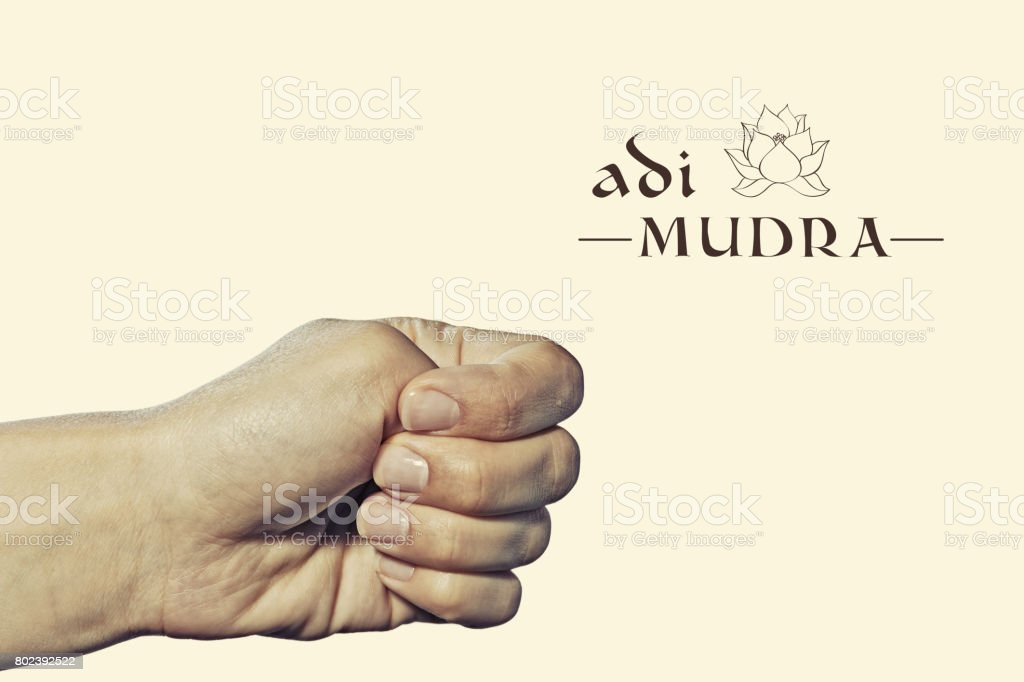 Adi mudra. stock photo