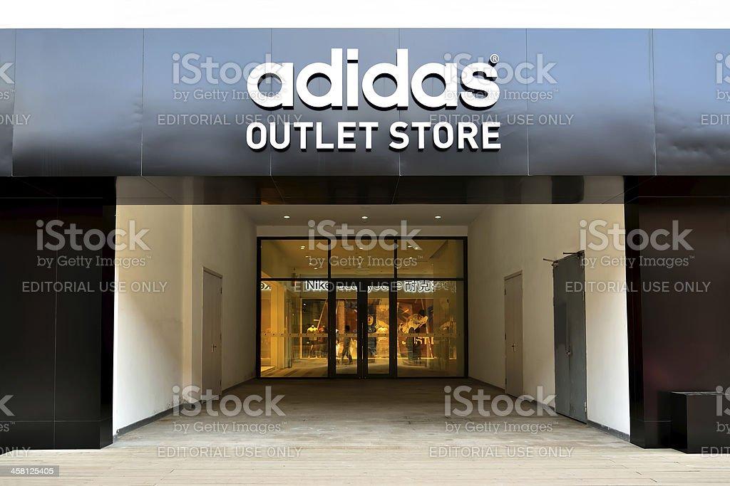 Adidas and Nike store stock photo