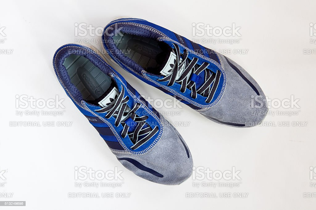 adidas sport shoes stock photo
