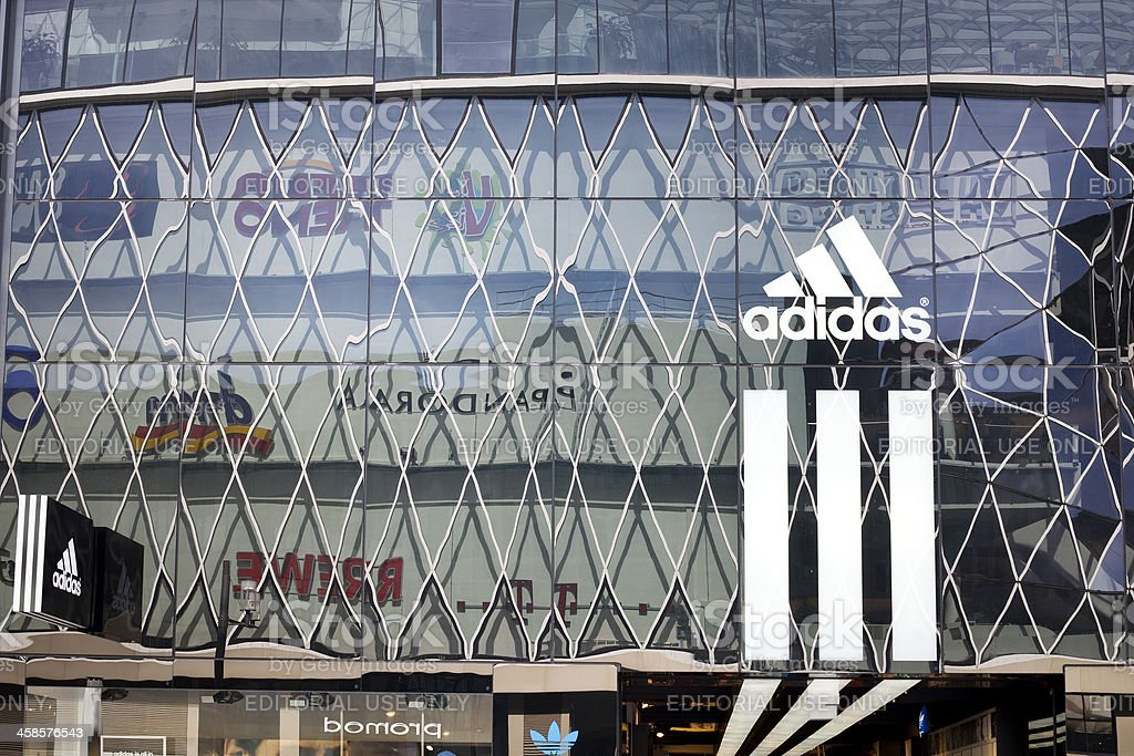 Adidas Store at Zeil Frankfurt stock photo
