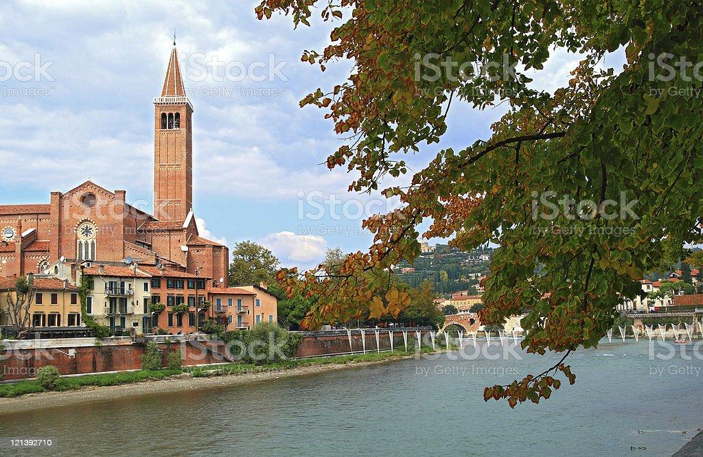 Adige River royalty-free stock photo
