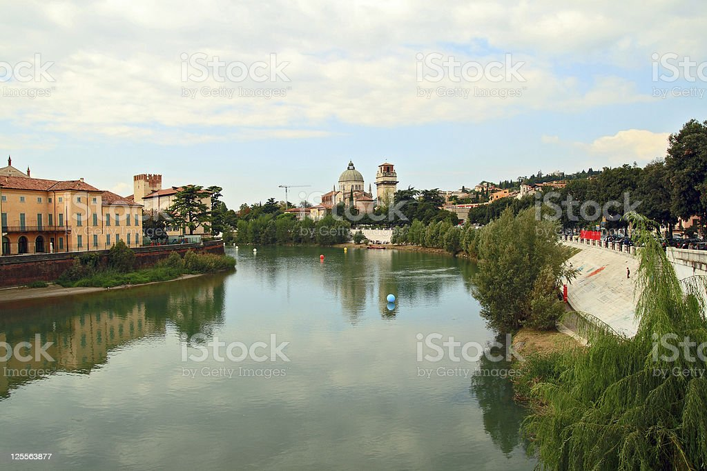 Adige River royalty-free stock photo