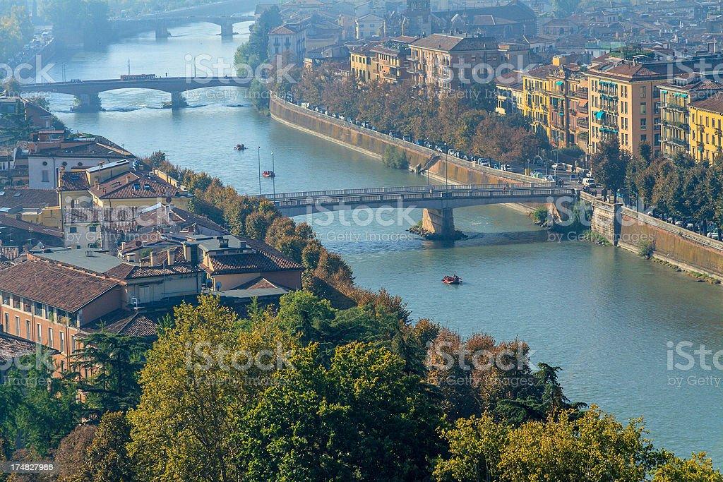 Adige River, Verona royalty-free stock photo