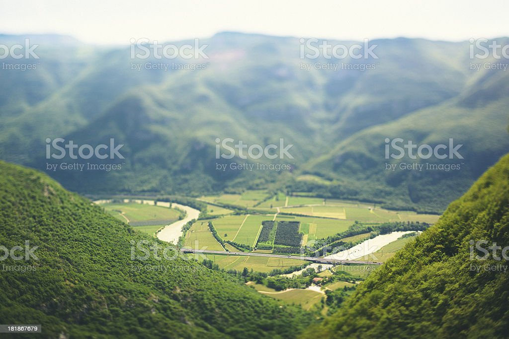 Adige Valley in Italy royalty-free stock photo