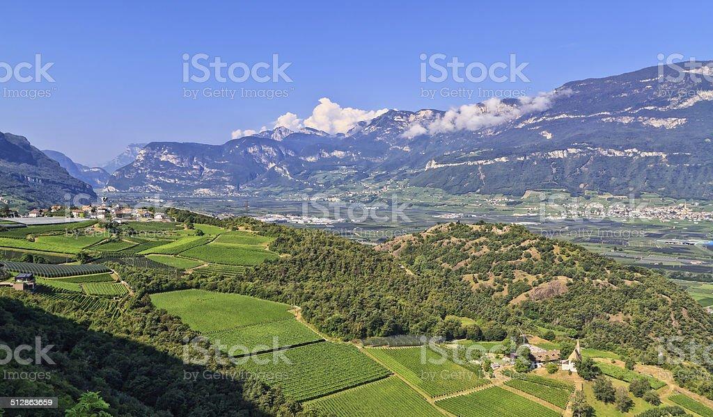 Adige Valley stock photo