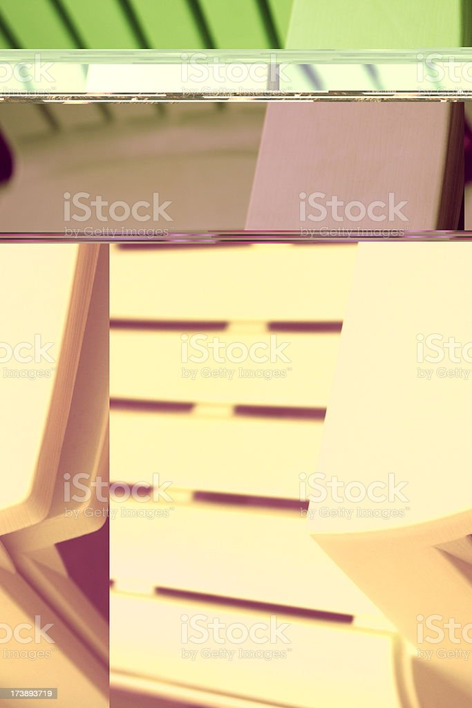 Adirondack Chair Patio Furniture royalty-free stock photo