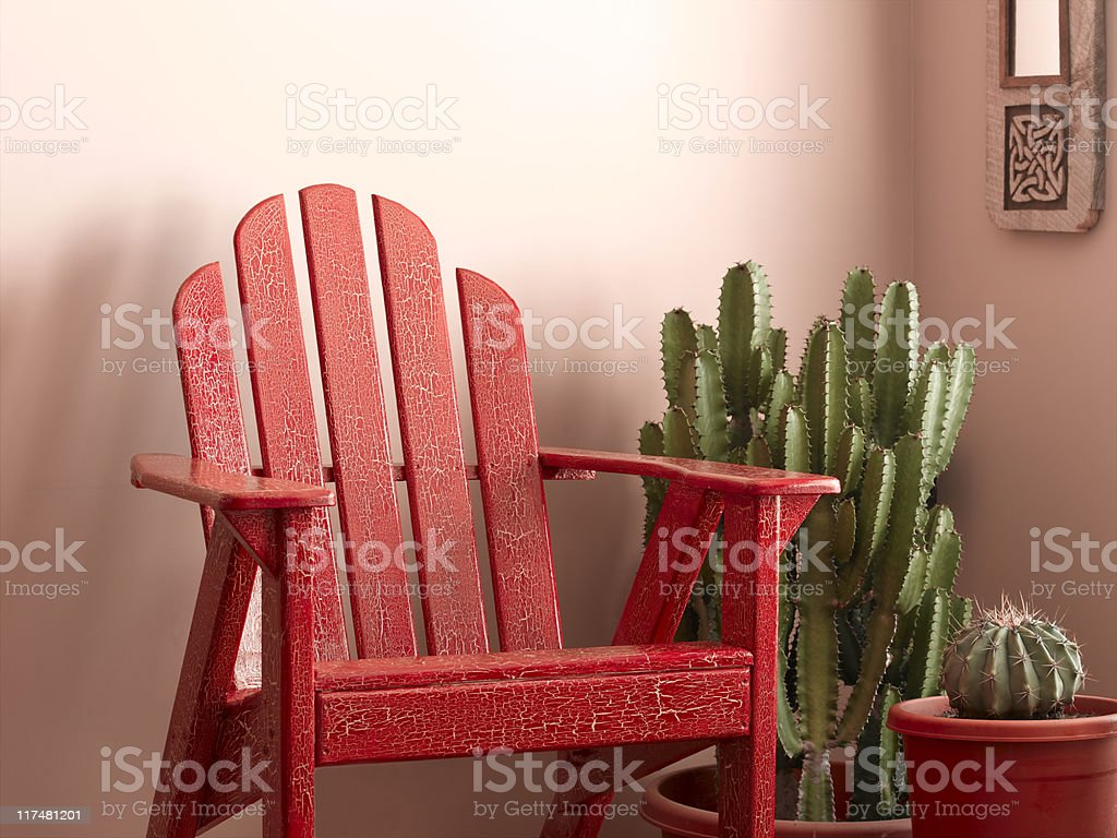 Adirondack Chair royalty-free stock photo
