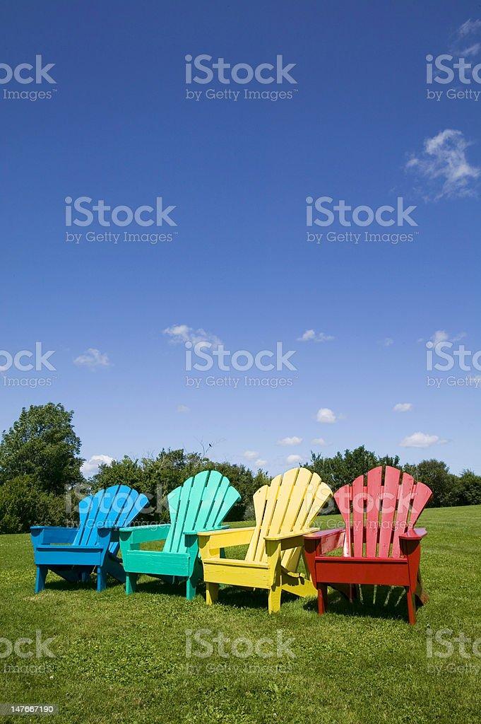 Adirondack Chairs stock photo