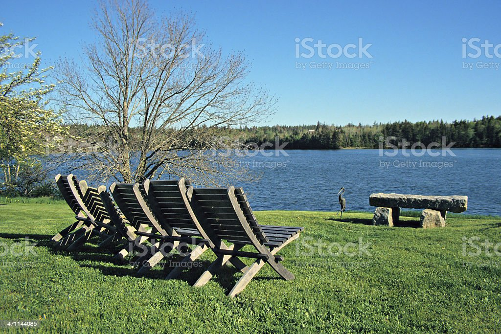 Adirondack chairs royalty-free stock photo