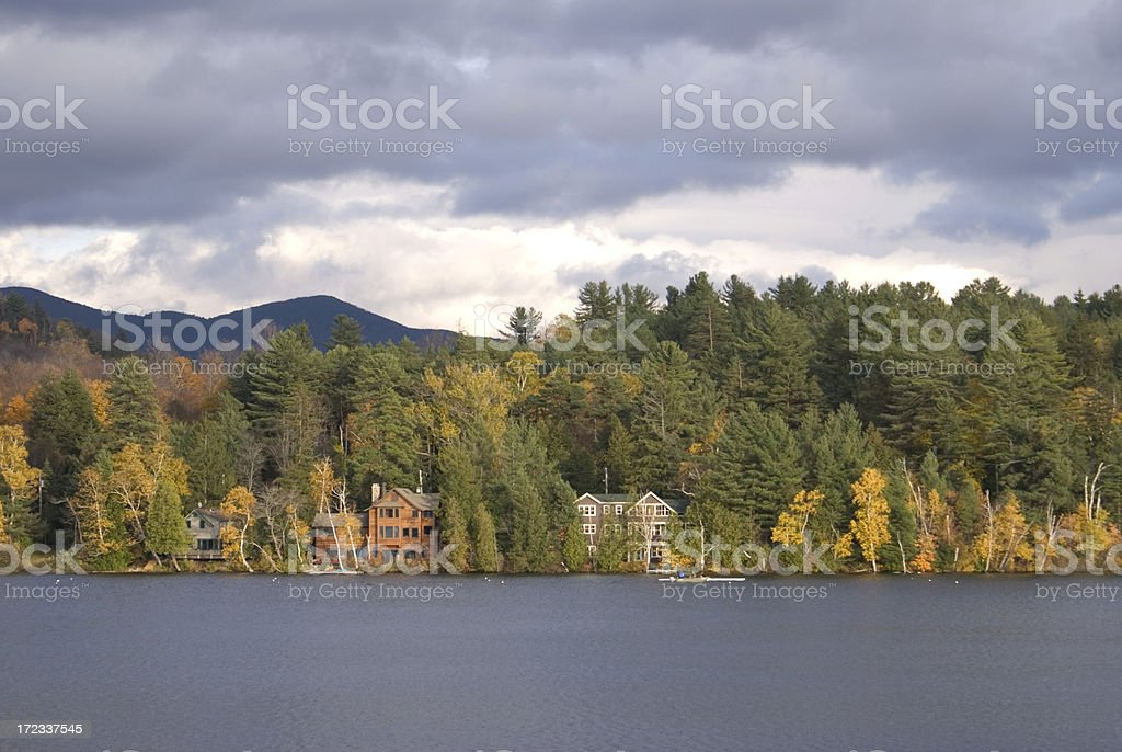 Adirondack Cottages stock photo