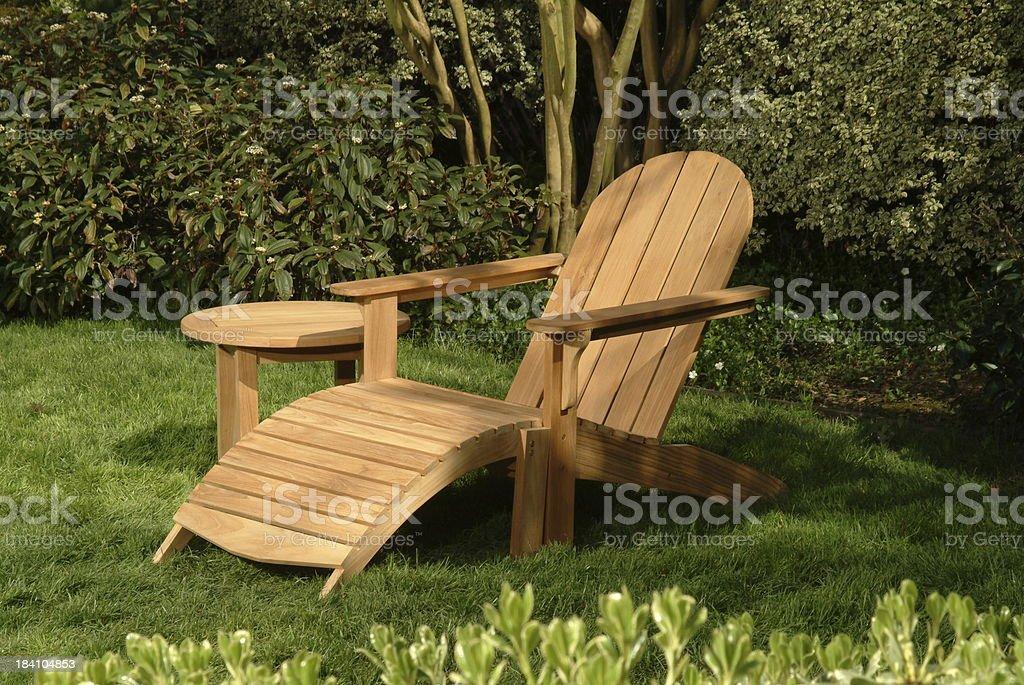 adirondack garden chair royalty-free stock photo