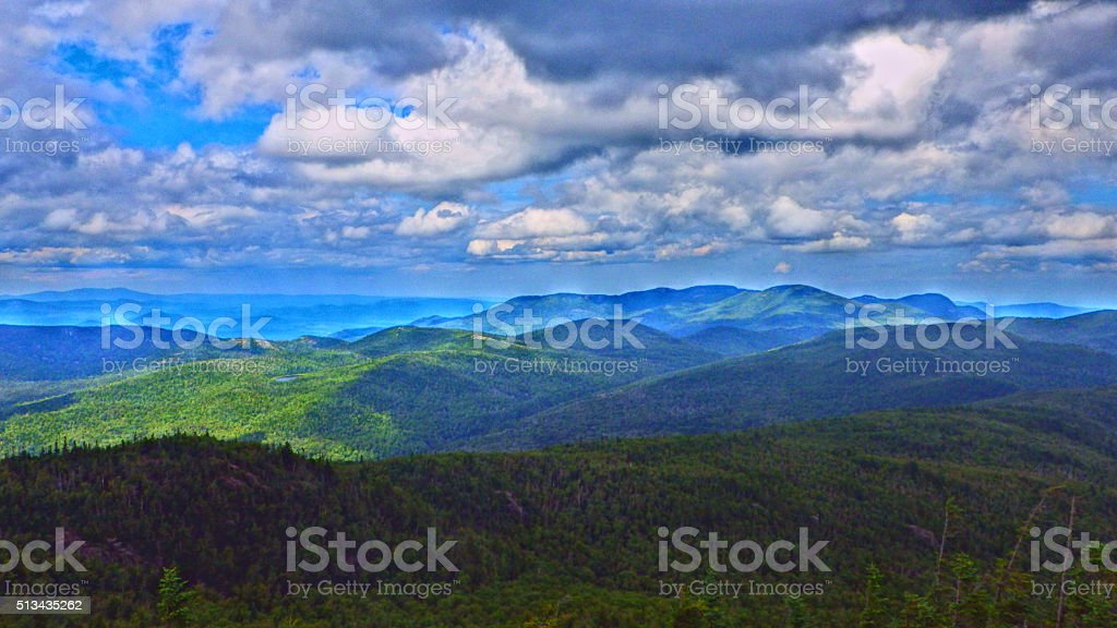 Adirondack Hurricane Mountain View 2 HDR stock photo