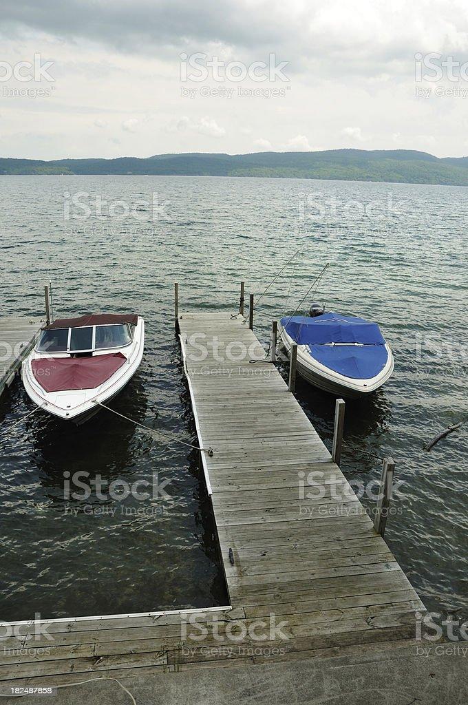 Adirondack Mountain Dock royalty-free stock photo