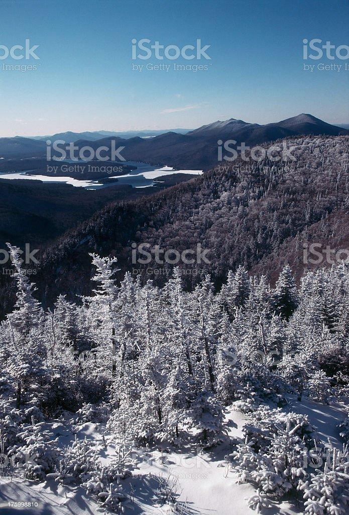 Adirondacks in Winter royalty-free stock photo