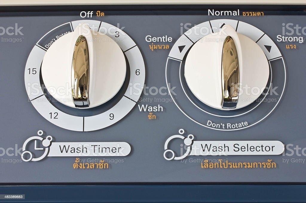 Adjust button the washing machine... stock photo