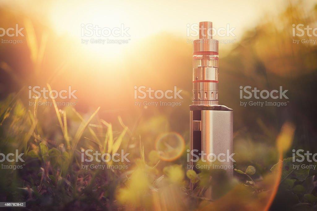 Adjustable electronic cigarette stock photo