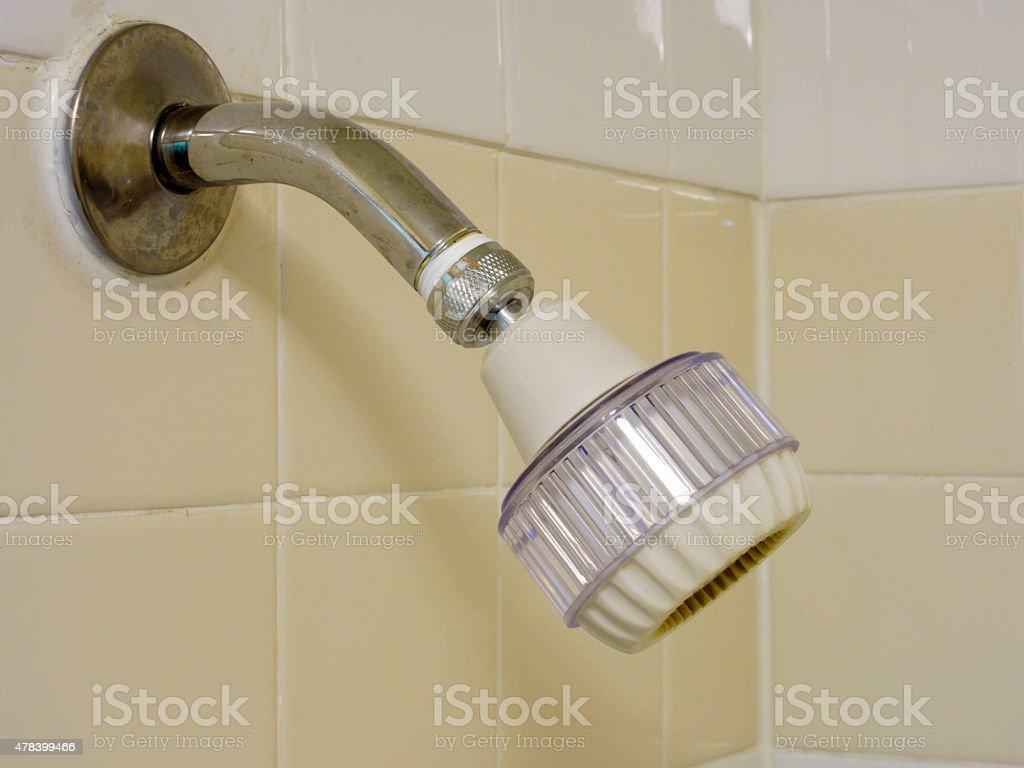 Adjustable Low Flow Showerhead stock photo