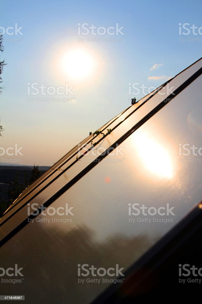 Adjustable solar panel royalty-free stock photo