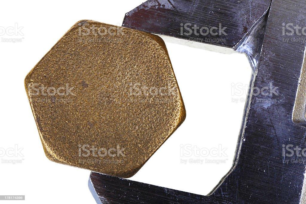 可変レンチ、六角型キャップ ロイヤリティフリーストックフォト