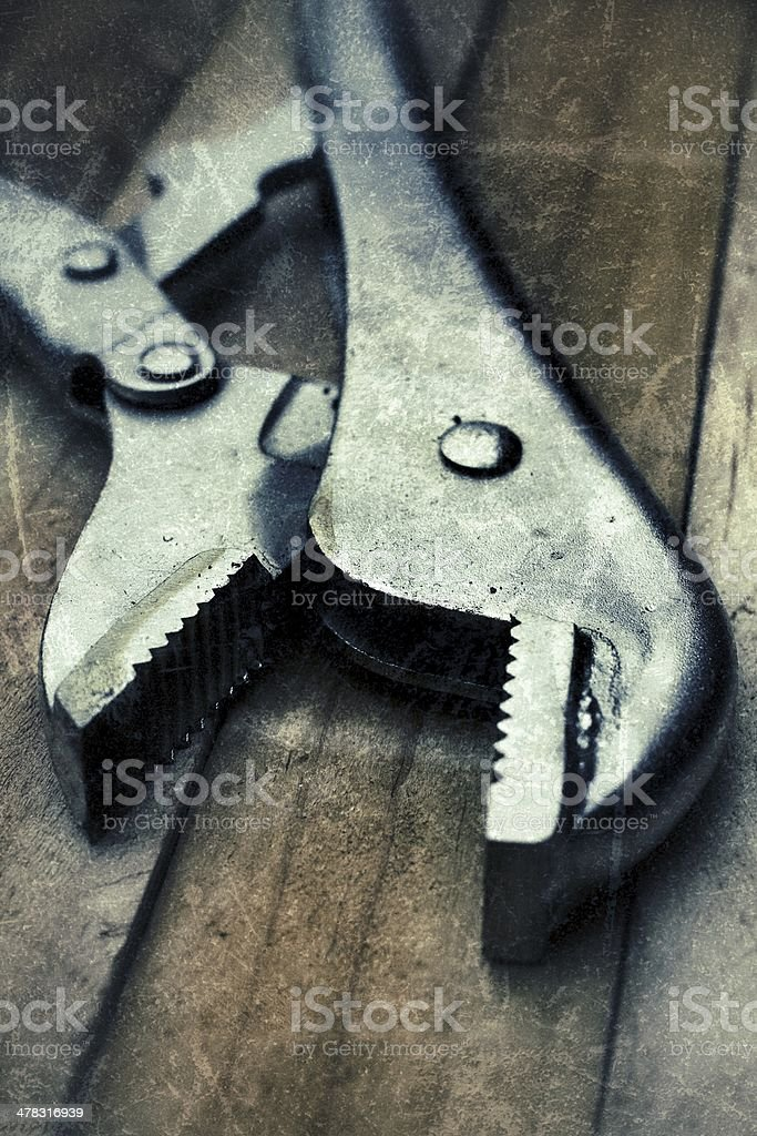 Adjustable wrench royalty-free stock photo