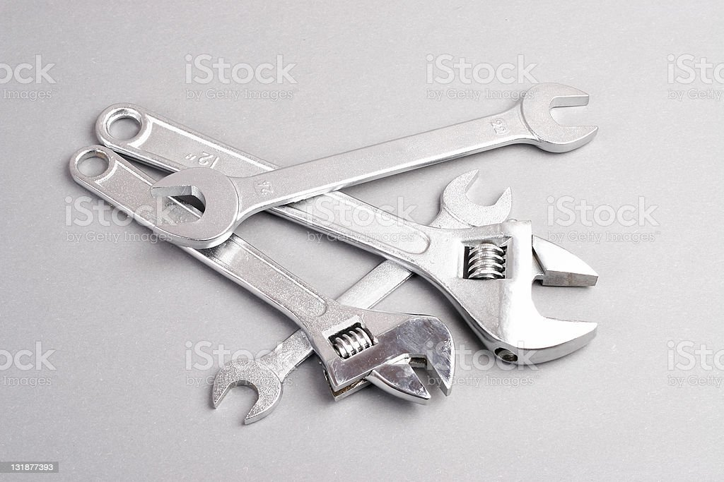 Adjustable Wrenches royalty-free stock photo