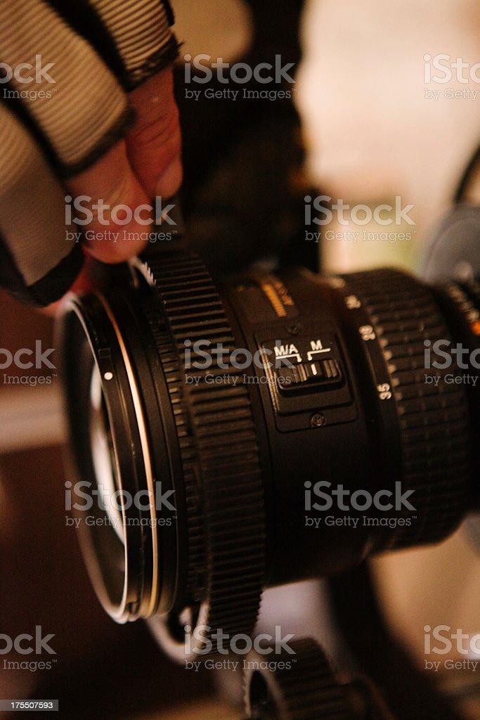Adjusting Focus royalty-free stock photo