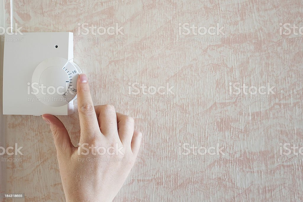 Adjusting Temperature stock photo