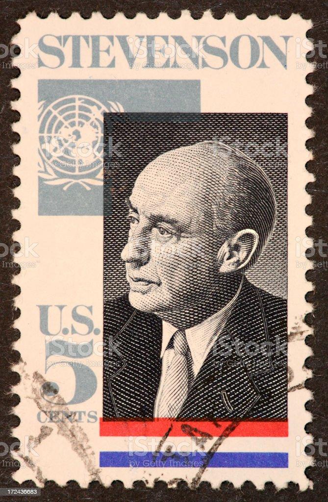 Adlai Stevenson stamp stock photo