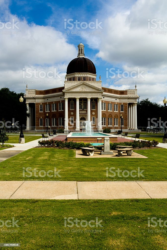 Administration Building, University of Southern Mississippi stock photo