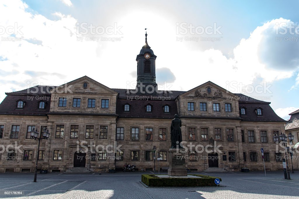 Administrative building at Friedrichstraߟe in Bayreuth, Germany, 2015 stock photo