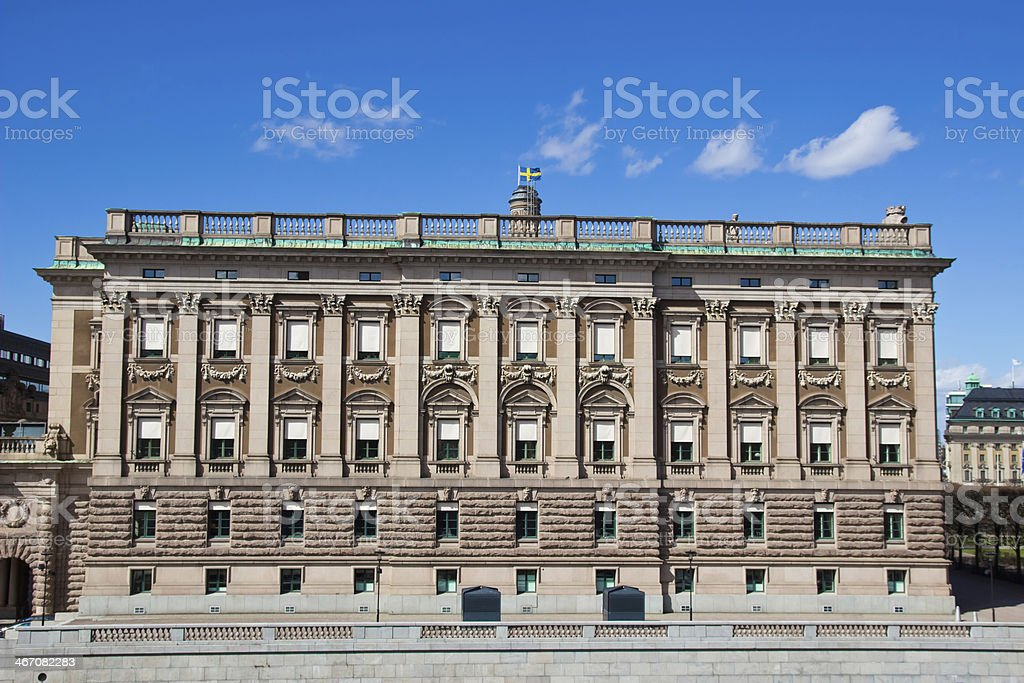 Administrative building near the Royal Palace in Stockholm royalty-free stock photo