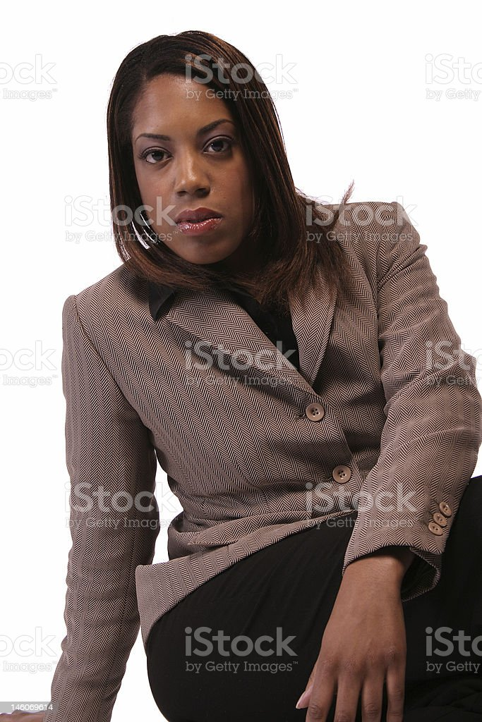 Administrative woman isloated on white background. royalty-free stock photo