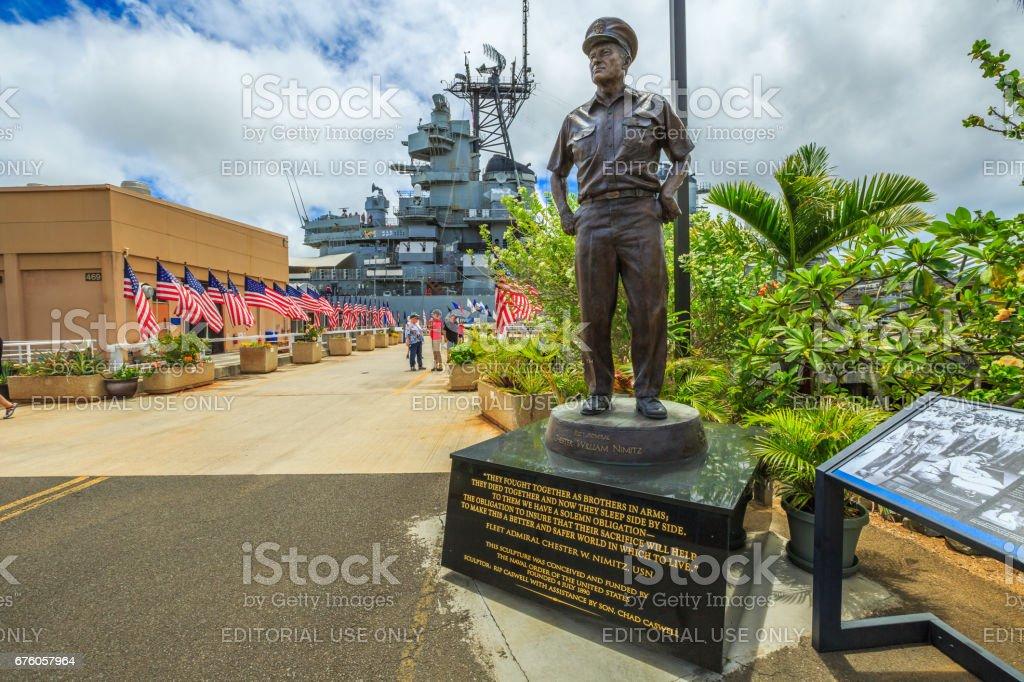 Admiral Chester W Nimitz stock photo