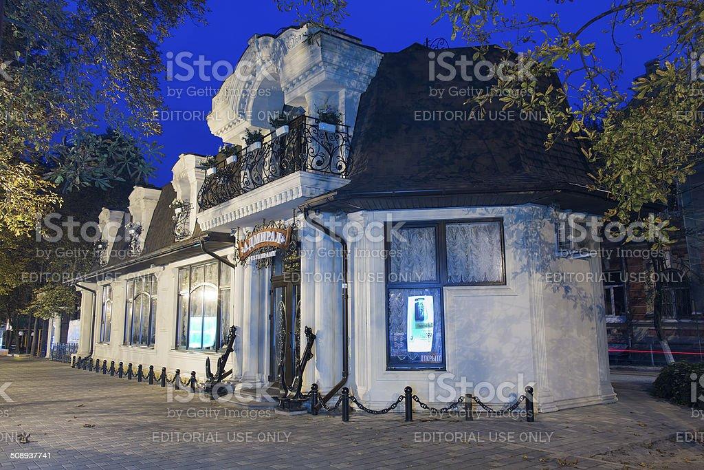 Admiral restaurant in Prospect Kirova in Pyatigorsk, Russia stock photo