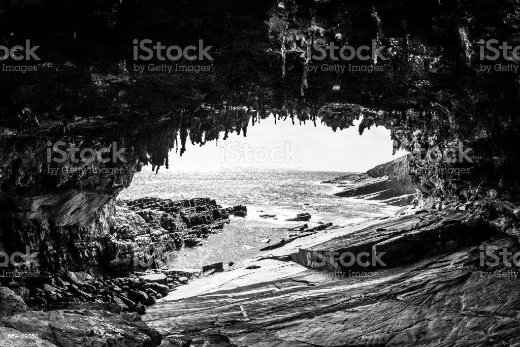 Admirals Arch. Kangaroo Island, Australia stock photo