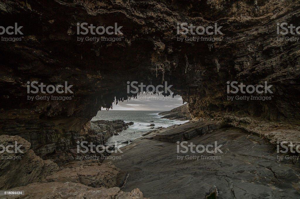Admirals Arch on Kangaroo Island, SA, Australia stock photo