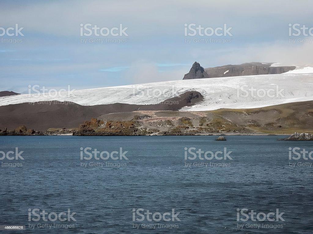Admiralty Bay Receding Glacier stock photo
