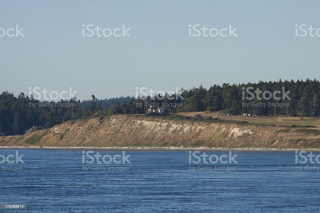 Admiralty Head Lighthouse royalty-free stock photo