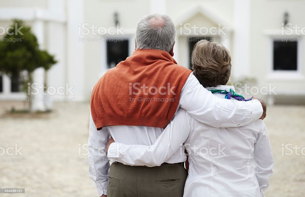 Admiration and affection stock photo