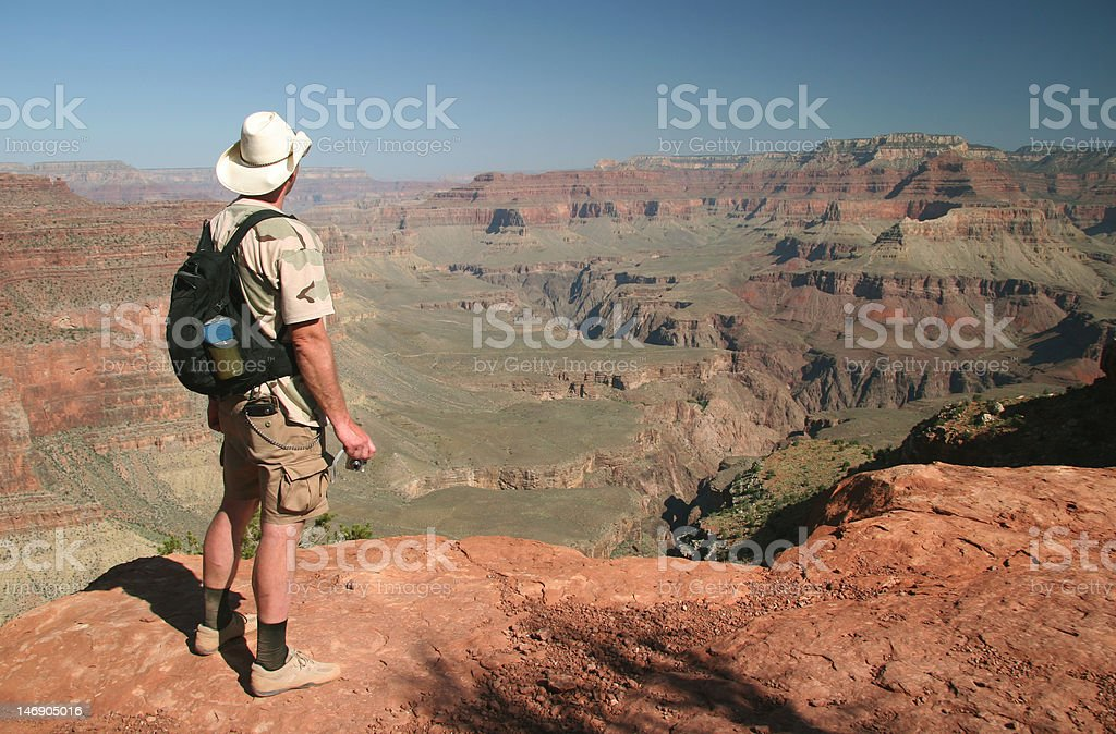 Admiring Grand Canyon royalty-free stock photo