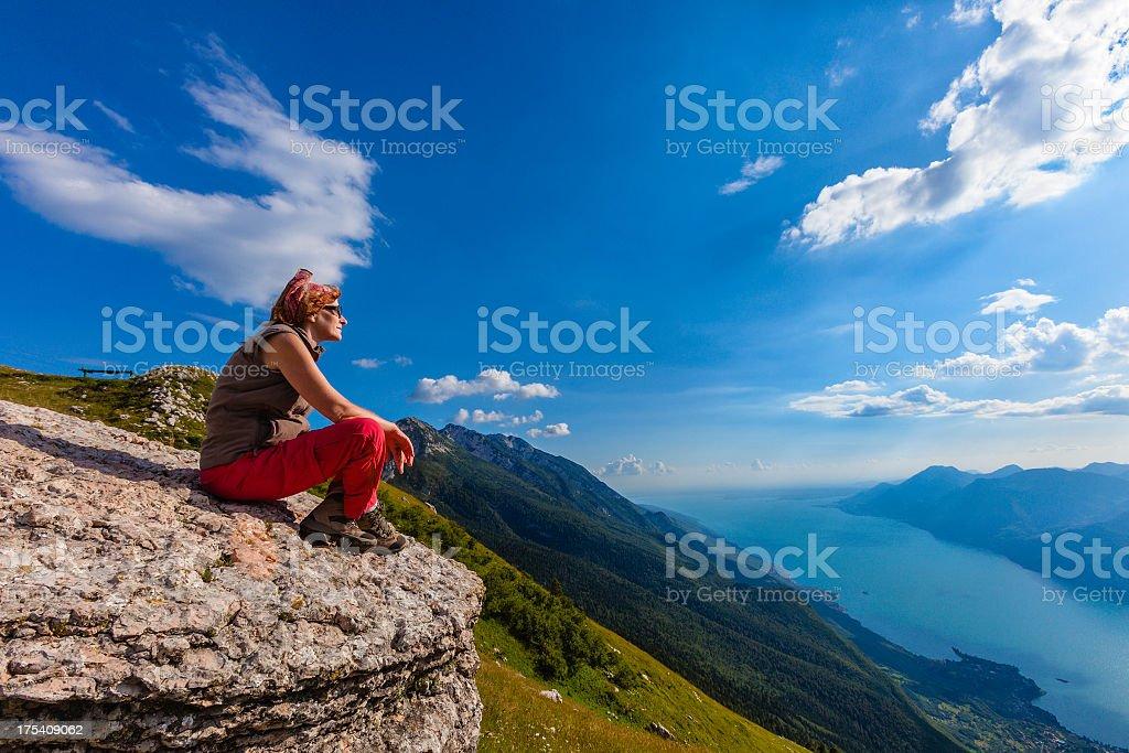 Admiring Lake Garda royalty-free stock photo