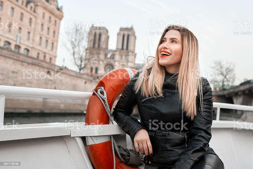 admiring Paris stock photo