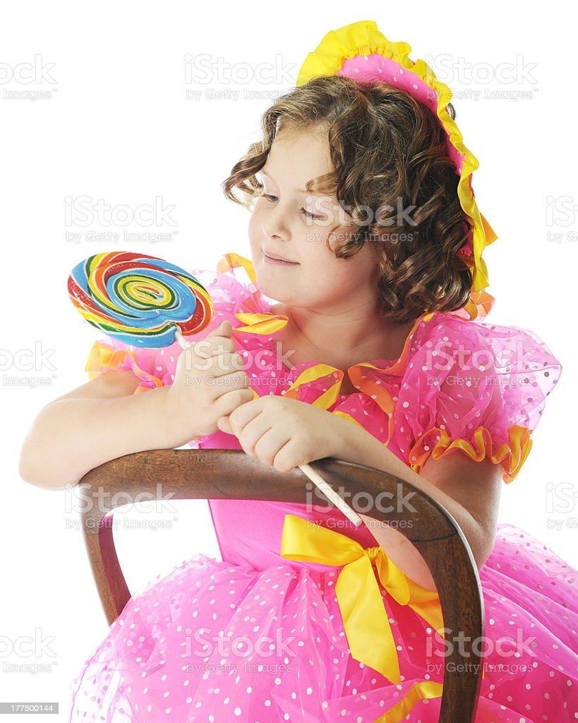 Admiring Shirley's Lollilpop royalty-free stock photo